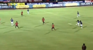 Alex Colon scores from the halfway line  (Image from Youtube)