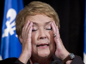 Premier Marois is regretting getting involved  (Image from CP)