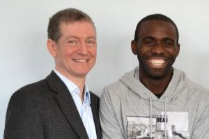 Fabrice Muamba and the doctor who saved him, Dr Andrew Deaner  (Image from Getty)