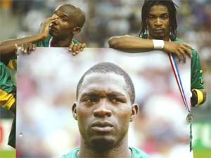 Cameroon remembers Foe before thier Confederations Cup final game against France  (Image from AFP)
