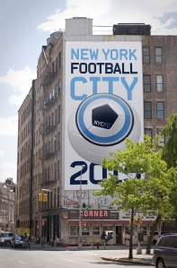 Billboards promote NYCFC  (IMAGE FROM HYPERAKT)