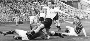 Murphy connects with Trautmann (Image from PA)