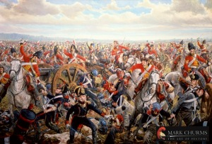 Joe beat Napoleon at the Battle of Waterloo? (Image from Xtimeline.com)