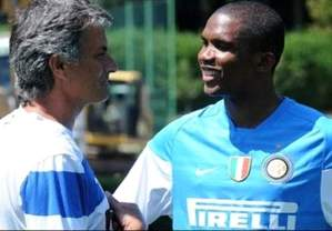 The Happy Couple - Mourinho and Eto'o worked together at Inter (Image from Getty)