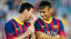 Double trouble - Messi and Neymar will face Celtic in the group stages (Image from Getty)