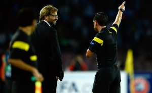 Dismissed - Klopp sent to the stands (Image from Getty)
