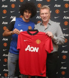 Moyes and Fellaini reunited  (Image from Getty)