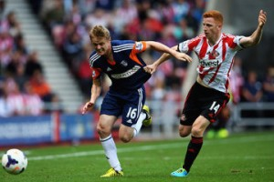 Duff outpaces Colback  (Image from Getty)