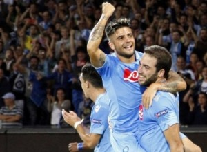 Napoli celebrate win over Dortmund  (Image from Getty)
