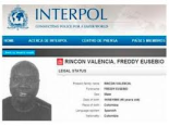 Wanted man - Rincon's warrant issued by Interpol  (Image from Interpol)