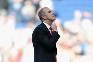 Di Canio talks to the crowd after the West Brom defeat  (Image from PA)