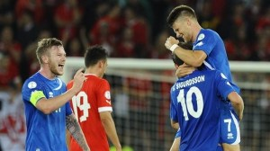 Gudmundsson inspired Iceland to comeback against Switzerland (Image from AFP)