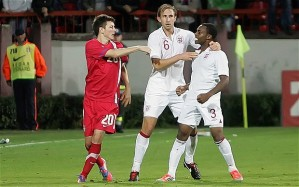 Danny Rose was subjected to racism taunts against Serbia  (Image from PA)