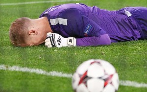 Joe Hart makes another blunder (Image from Getty)