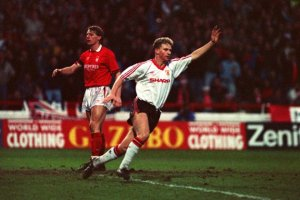 Robins goal saved the Ferguson era  (Image from BBC)