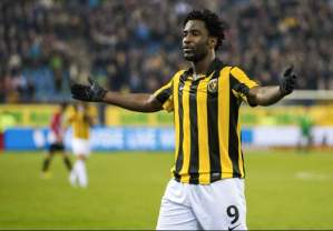 Wilfred Bony left Vitesse in the summer for Swansea  (Image from Getty)