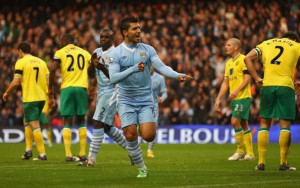 Norwich hit for seven by City  (Image from Getty)
