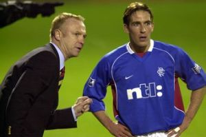 McLeish managed Ricksen for five years at Rangers  (Image from AFP)