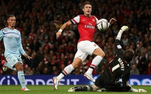 Giroud has been in superb form for Arsenal  (Image from Getty)