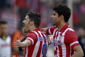 Diego Costa and David Villa  (Image from AFP Getty Images)