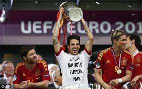 Fabregas and Spain triumphed using the false nine formation (Image from AFP)