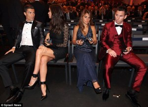 No Love Lost between Ronaldo and Messi  (Image from Getty)