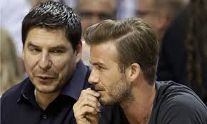 Beckham and investor Claure  (Image from Getty)