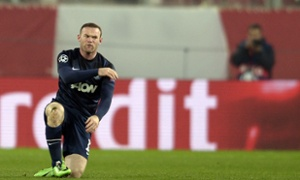 Frustrating night for Rooney  (Image by AFP PHOTO / ARIS MESSINISARIS MESSINIS/AFP/Getty Images)