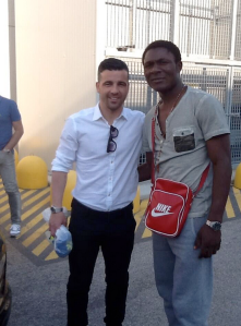 Minala with Udinese's Di Natale  (Image from Getty)