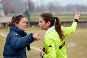 Tambini officiates a game in the lower leagues  (Image from Giuseppe Photogra Etenziphy)