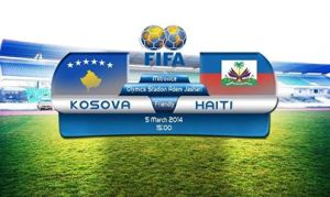One small step - Kosovo vs Haiti  (Image from FIFA)