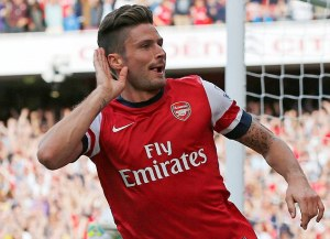 Giroud has been Arsenal's main goal threat  (Image from REUTERS/Eddie Keogh)