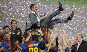 Guardiola built Barcelona into the most feared team in the world  (Image from Getty)