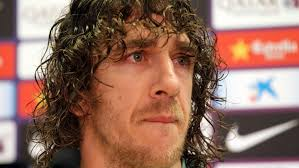 Puyol during yesterday's conference  (Image from Getty)