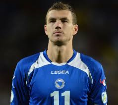 Dzeko will lead the line for Bosnia (Image from PA)