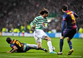 Celtic compete against Barcelona in the Champions League  (Image from UEFA)