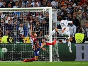 Bale scores in injury time to give Real the lead  (Image from Getty)