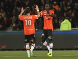 Out to Impress - Lorient's forward Vincent Aboubakar (R)  (Image from FRANK PERRY/AFP/Getty Images)