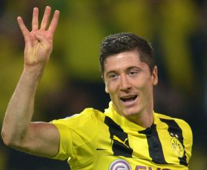 Lewandowski is set to join Bayern Munich this summer  (Image from PA)