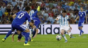 Messi strikes to put Argentina in the driving seat (Image from AP Photo/Victor R. Caivano)