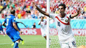 Bryan Ruiz celebrates scoring against Italy  (Image from Getty)