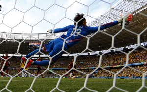 Wonder save by Ochoa to deny Neymar  (Image from AFP)