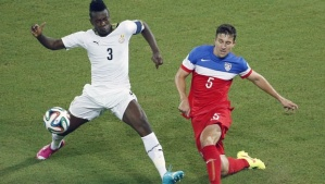 Besler (5) stops Ghana in their tracks  (Image from Getty)