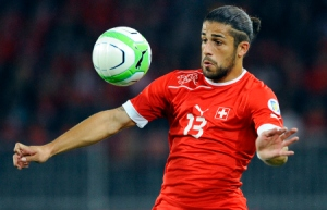 Rodriguez set up two goals for Switzerland as they pegged back Ecuador  (Image from ALAIN GROSCLAUDE/AFP/Getty Images)