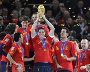 Spain won the last World Cup but who will win in Brazil? (Photo by Bob Thomas/Getty Images)