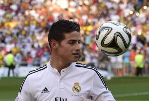 Rodriguez will play alongside Bale, Ronaldo and Kroos in the new look Galacticos  (Image from AFP PHOTO / PIERRE-PHILIPPE MARCOUPIERRE-PHILIPPE MARCOU/AFP/Getty Images)
