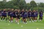 The Arsenal squad get back into pre season training (image from Getty)