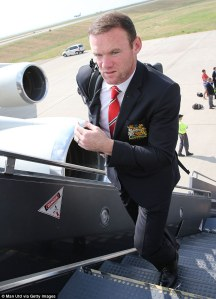 Another flight for Rooney and his teammates  (Image from PA)