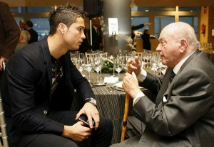 Ronaldo spent a lot of time with Di Stefano at Madrid  (Image from PA)
