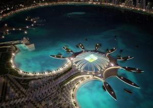 Qatar won their bid despite still needing to build all of its stadiums like the one above (Image from Qatar 2022 bid)